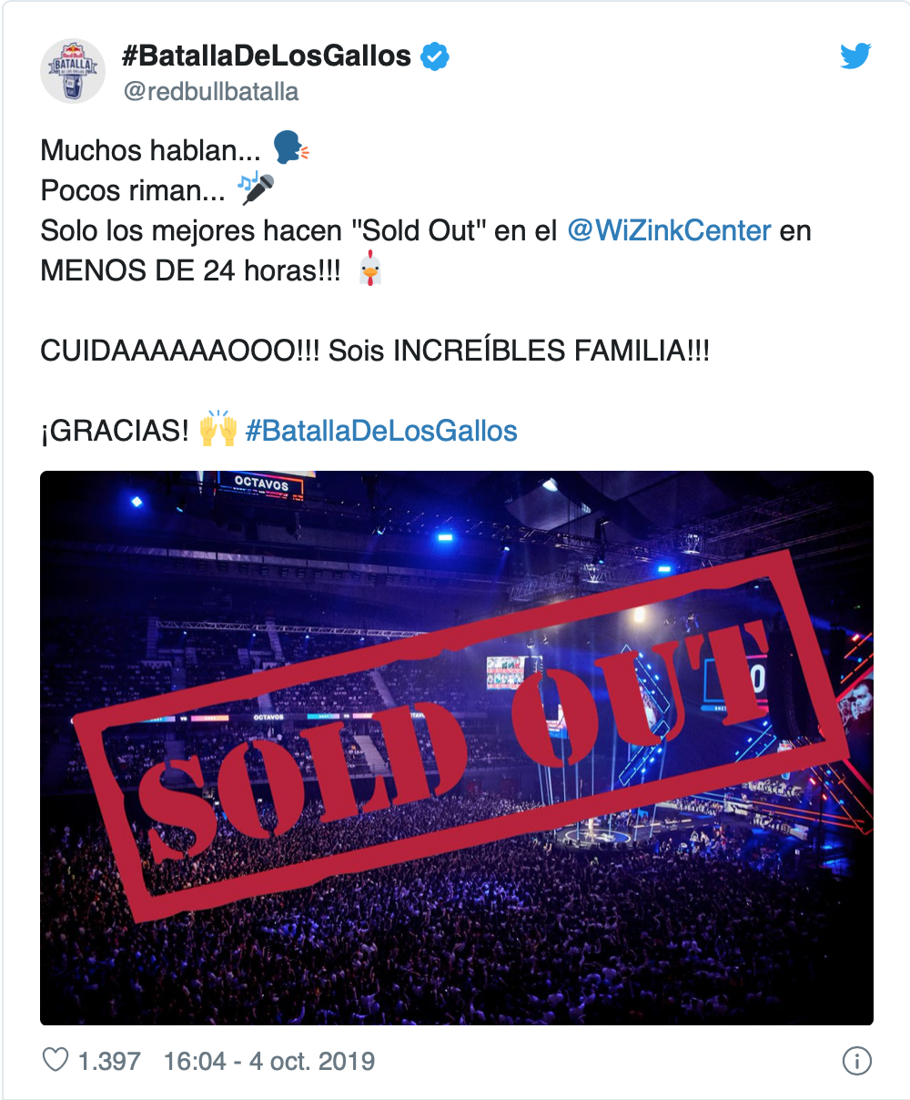 Comunicado de sold out