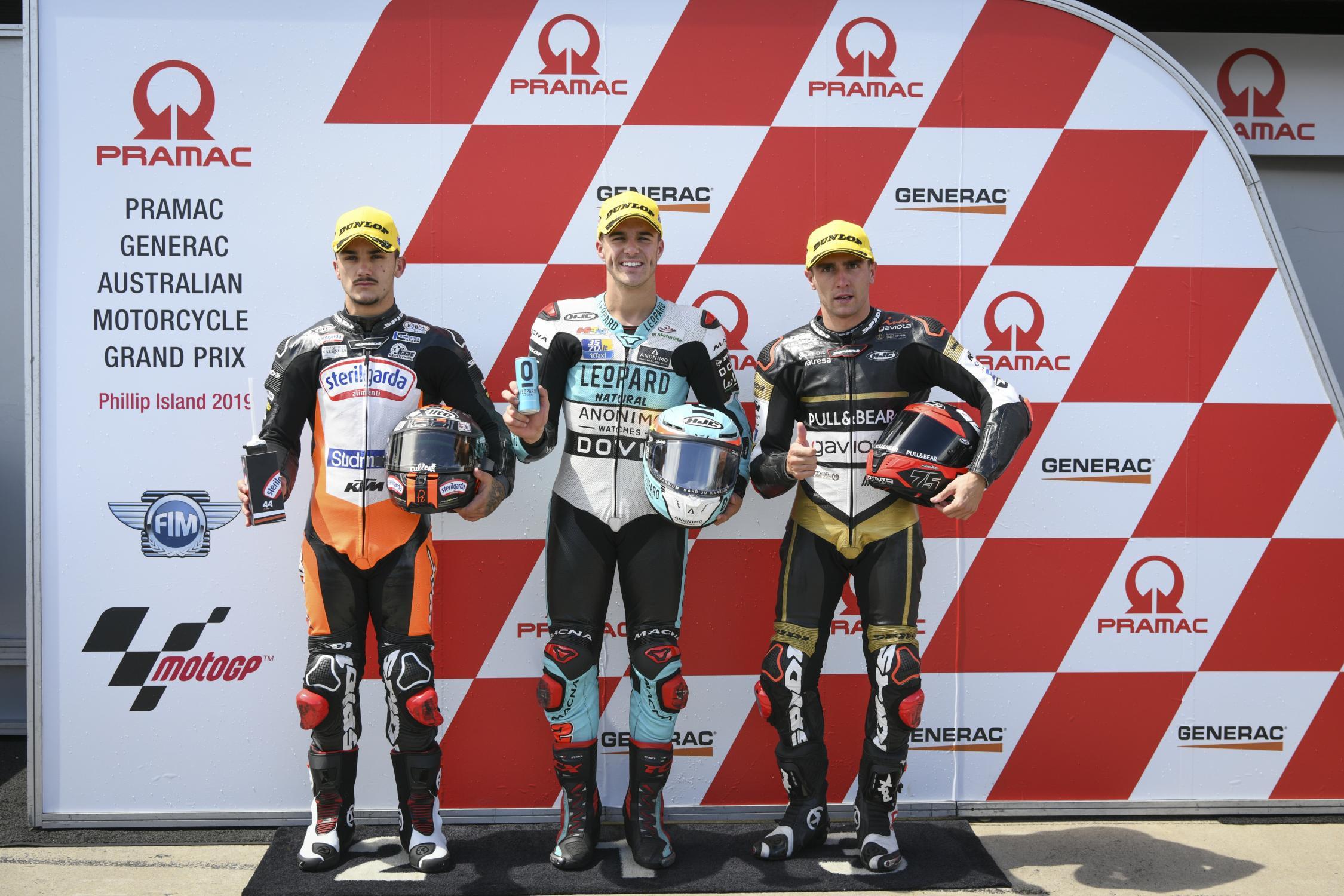 Marcos Ramírez en el podio