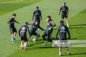 El Real Madrid prepara su partido ante el Éibar