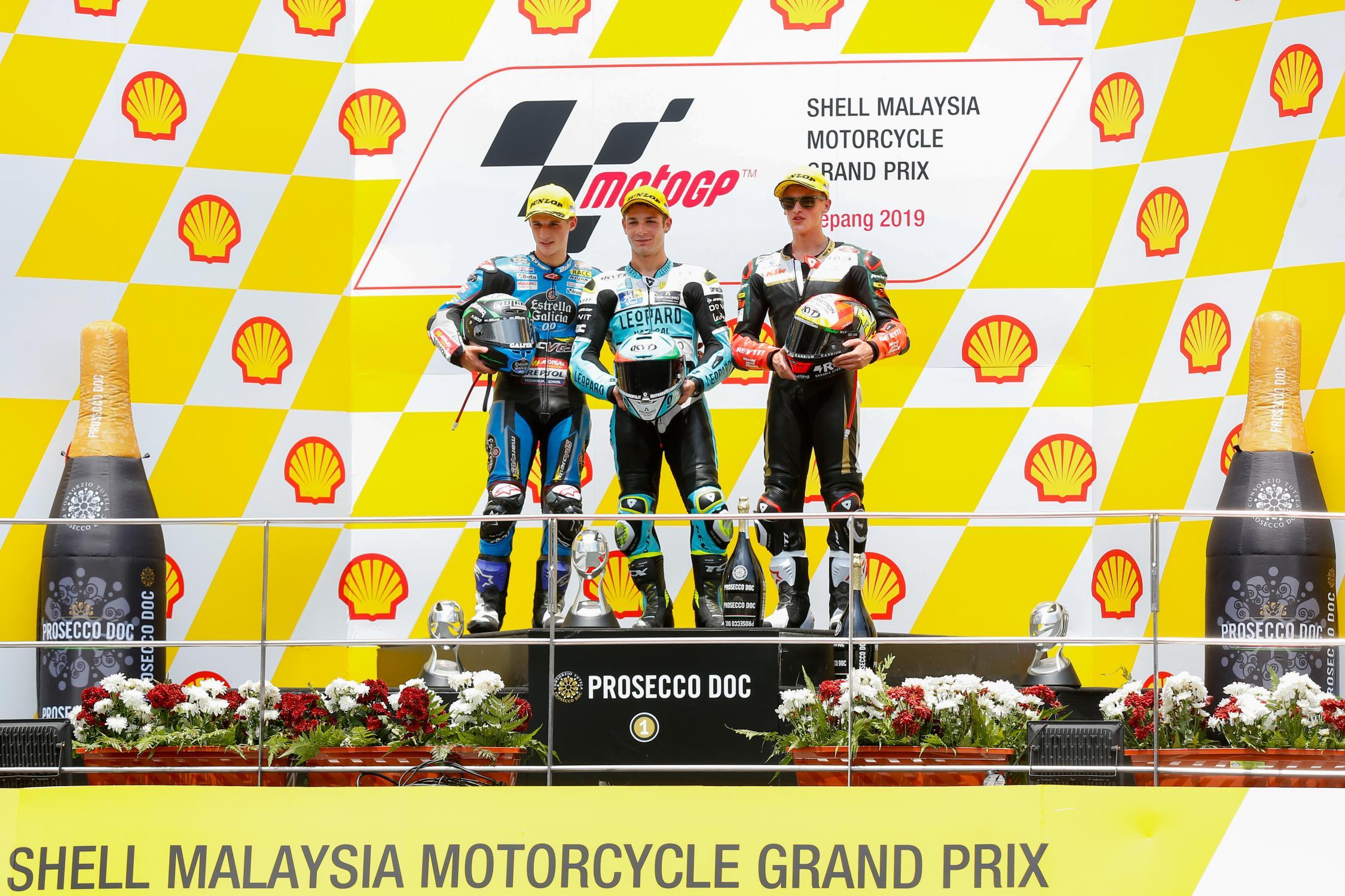 Podio Gran Premio de Malasia