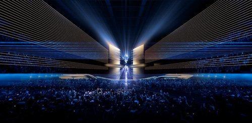 Vista frontal del escenario