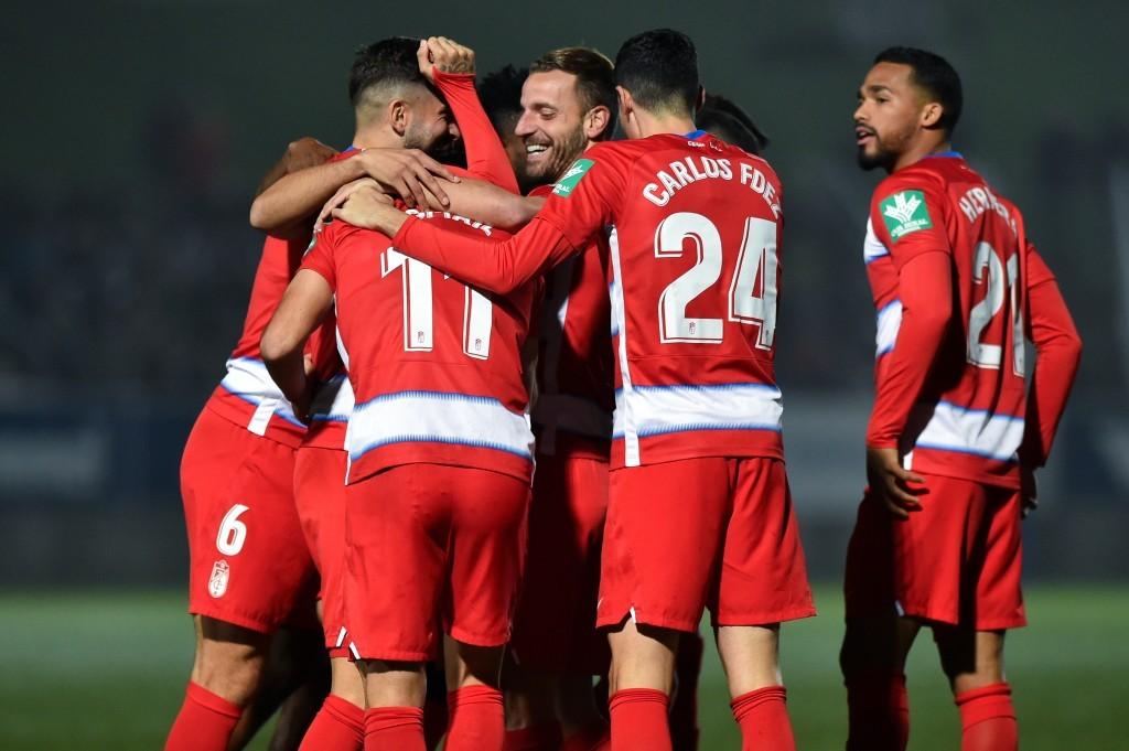 Se celebra el gol ante el Badalona en la prórroga