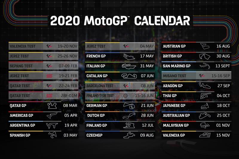 Calendario Motogp 2020 Timejust