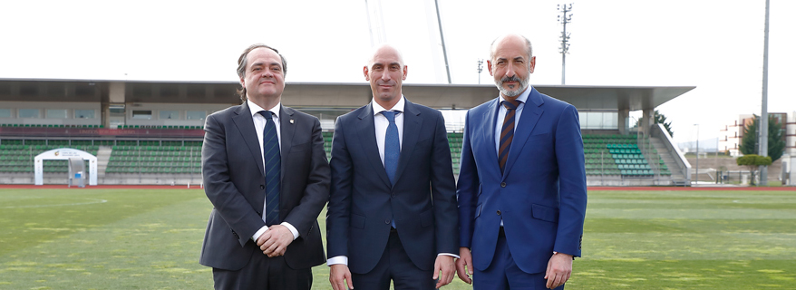 Los presidentes de la RFEF, Real Sociedad y Athletic Club