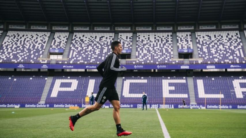 Sergi Guardiola durante un entrenamiento individual | @RealValladolid