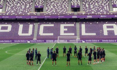 El Real Valladolid preparando el partido contra el Celta en Zorrilla | @RealValldolid