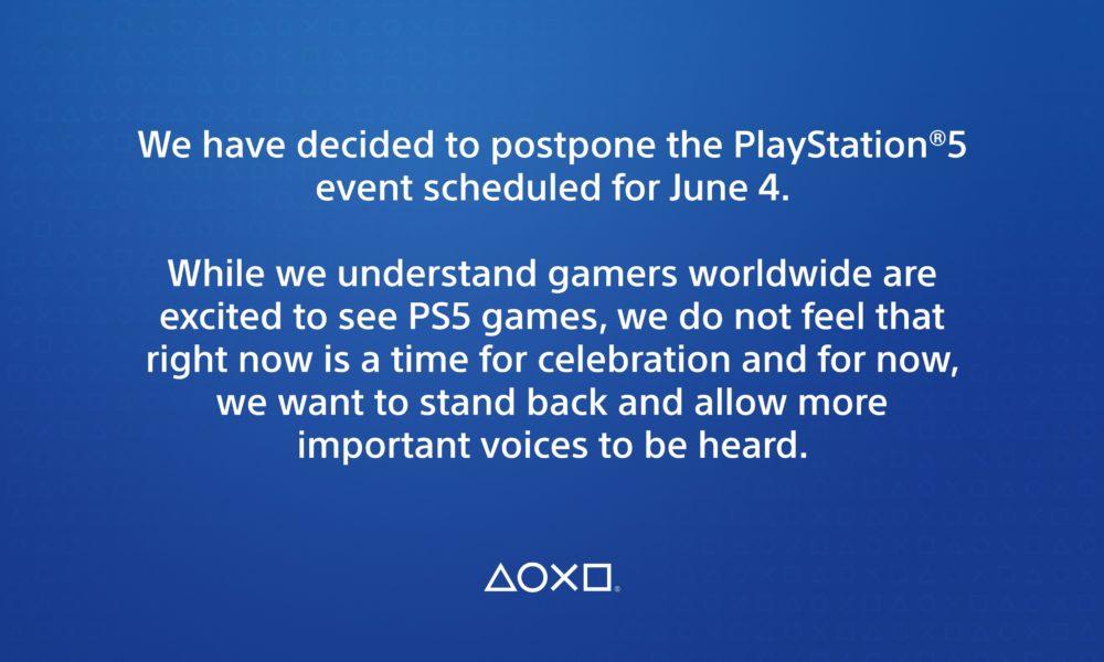 Publicación en la que Sony daba a conocer la cancelación del esperado evento (Sony).