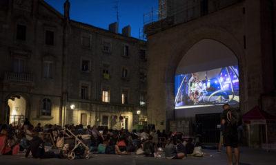Cine al aire libre en Vitoria. Fuente: Gasteizhoy
