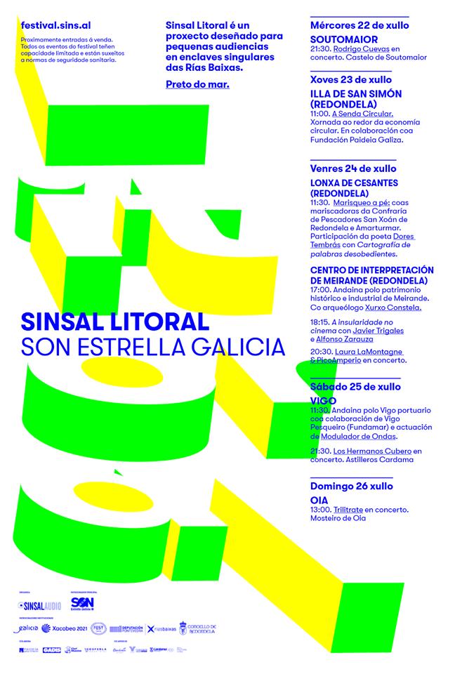 Cartel de Sinsal Litoral SON Estrella Galicia // http://festival.sins.al/