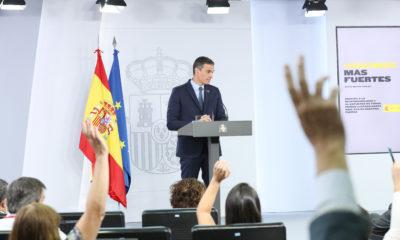 Pedro Sánchez durante su comparecencia en el Palacio de La Moncloa | Imagen: TimeJust