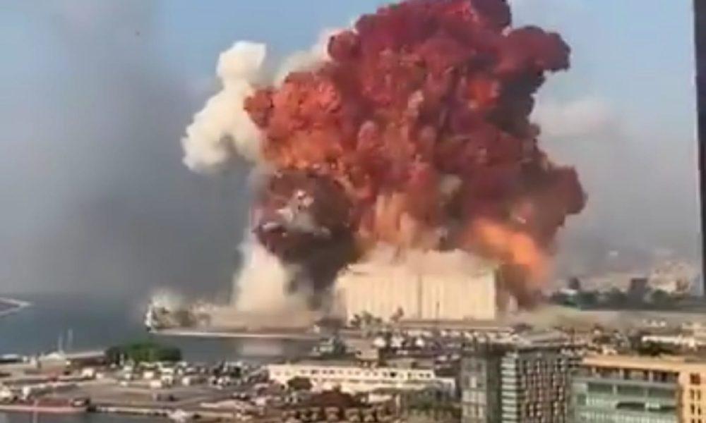Explosión en el puerto de Beirut | Imagen: TimeJust