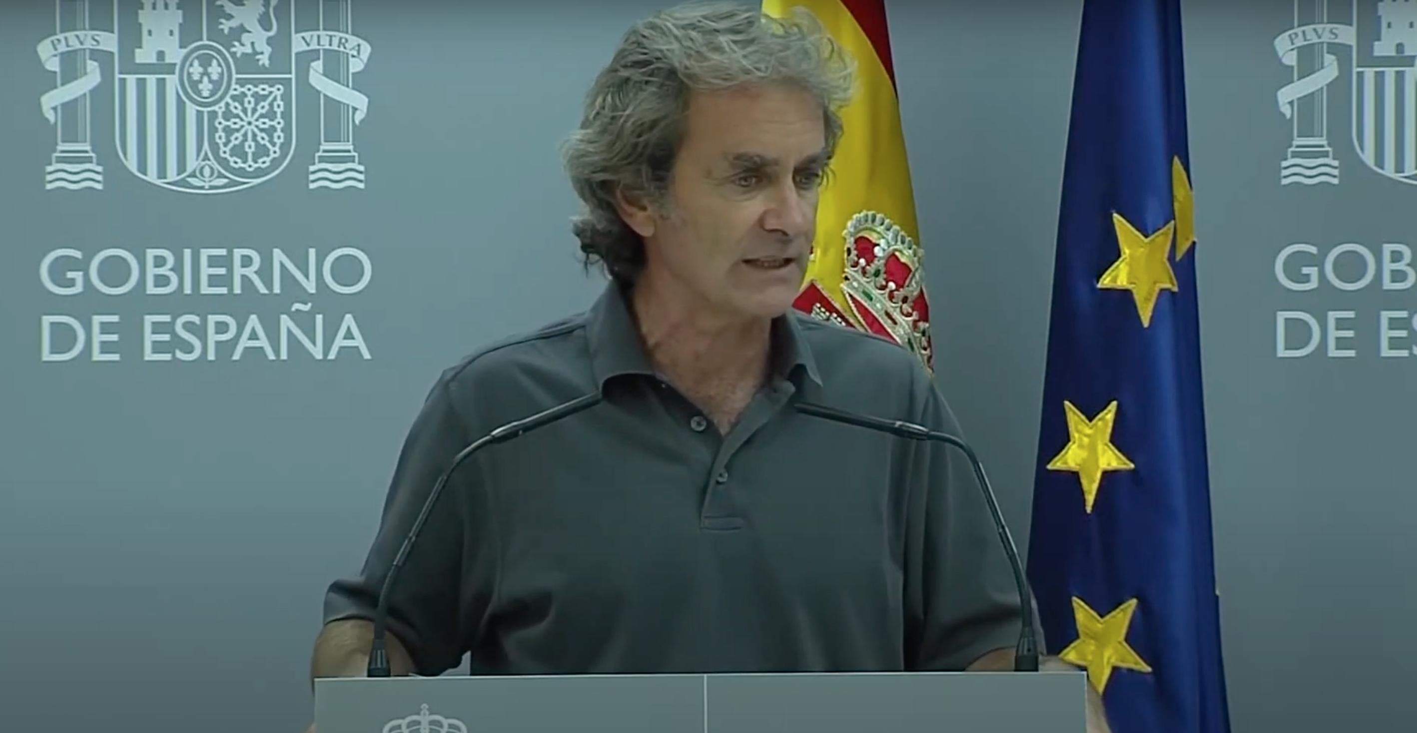 Fernando Simón durante su comparecencia de este lunes en el Ministerio de Sanidad | Imagen: TimeJust