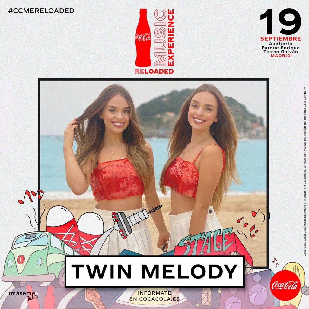 Cártel de Twin Melody en el festival CCME Reloaded. | Fuente: CocaCola Music Experience