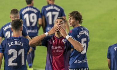 Rafa Mir celebrando un gol en El Alcoraz | @SDHuesca