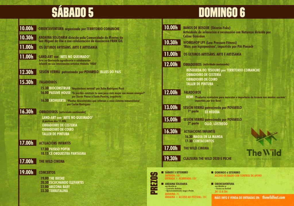 programa-THE-WILD-2020 / THEWILDFEST