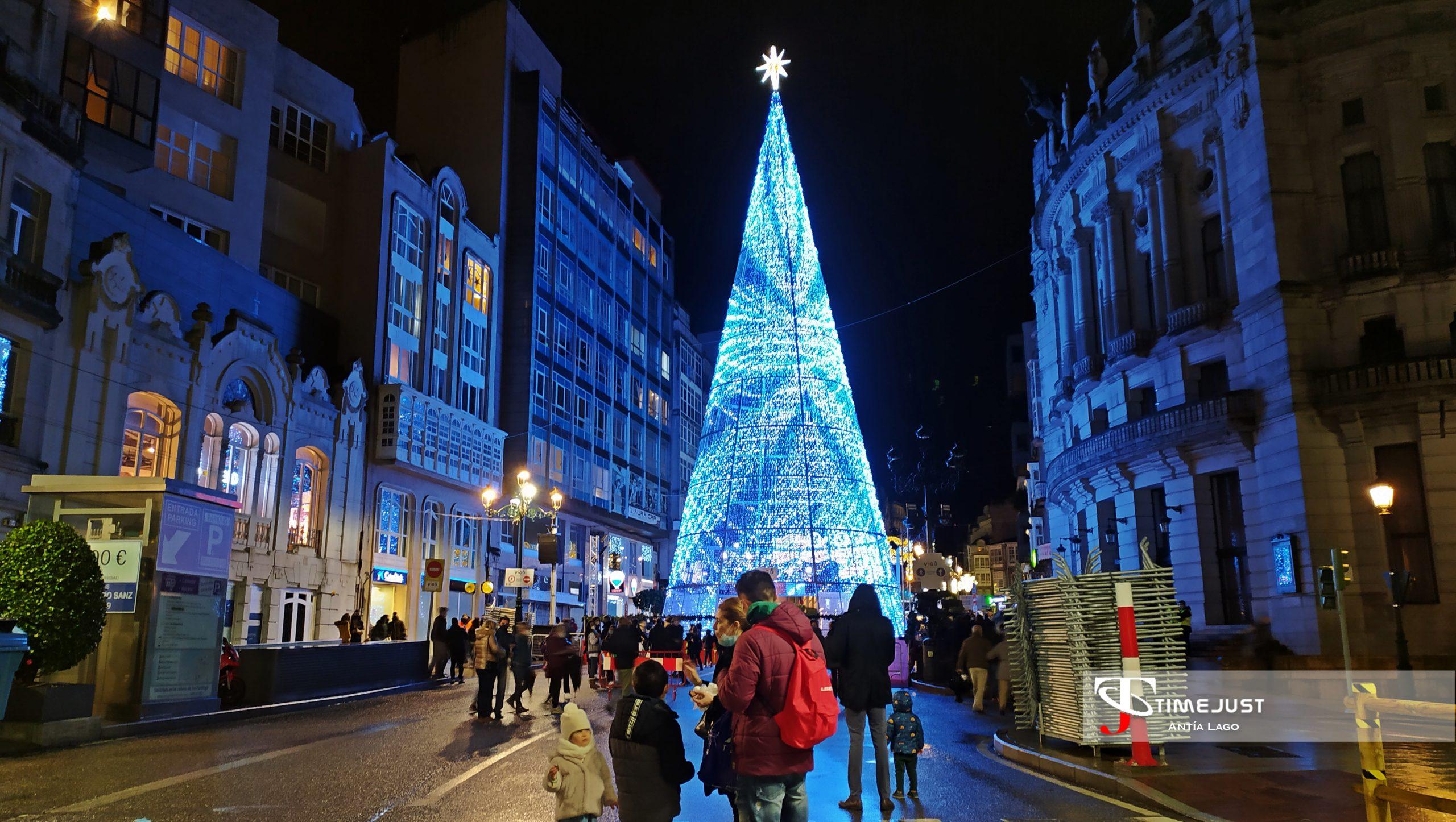 navidad vigo árbol luces