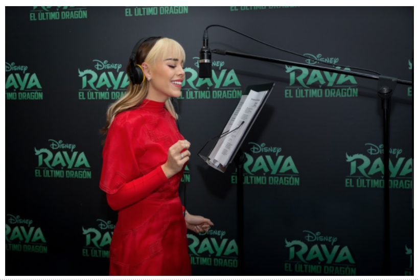 Danna Paola interpretará Hasta Vencer en la nueva película de Disney Raya y el último dragón.