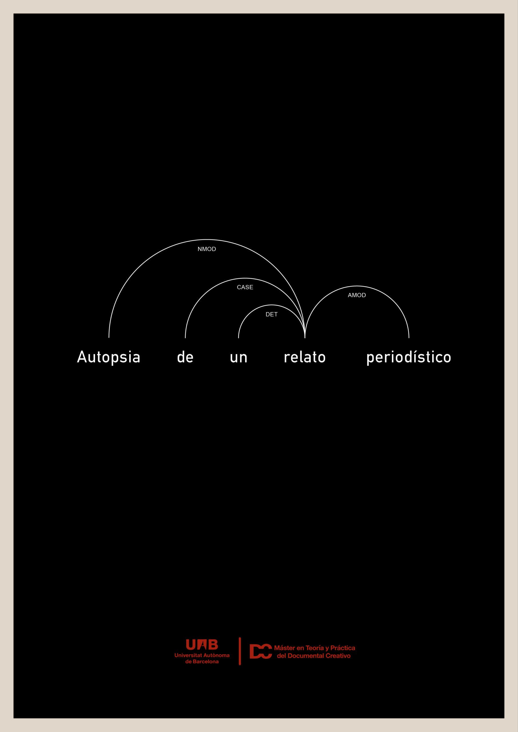 """Cartel de """"Autopsia de un relato periodístico"""""""