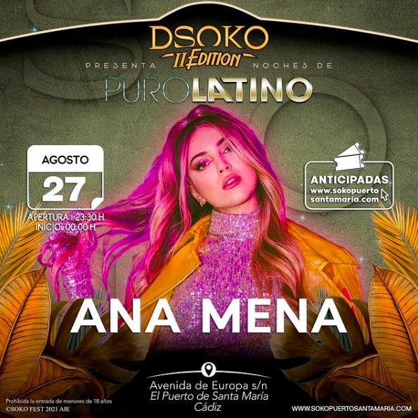 Ana Mena en el cartel de DSoko Fest